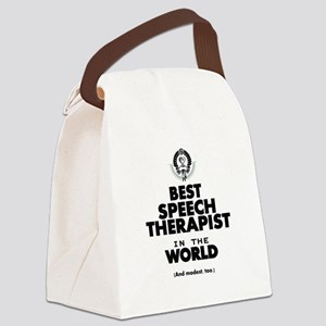 The Best in the World Speech Therapist Canvas Lunc